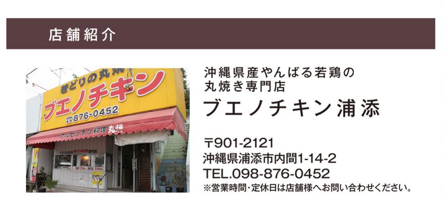沖縄県産やんばる若鶏の丸焼き専門店ブエノチキン浦添基本情報